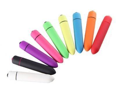 Вибратор мини пуля 10 режимов цветная 9 см