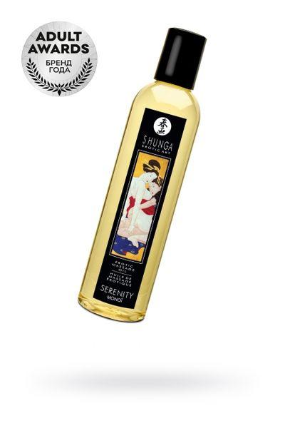 Масло для массажа Shunga Serenity, натуральное, возбуждающее, цветочный, 240 мл.