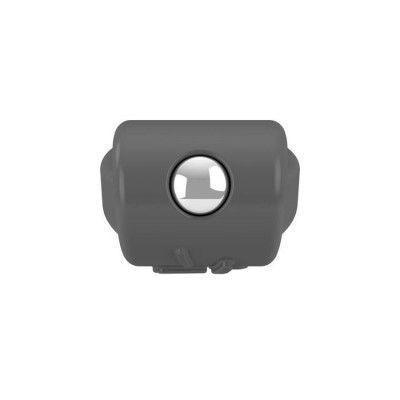 Эрекционное кольцо OVO с выносным элементом для клиторальной стимуляции, с вибрацией, силиконовое, серое