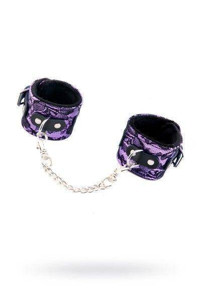 Кружевные наручники TOYFA Marcus пурпурные, 42 см.