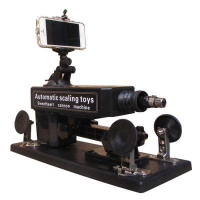 Секс-машина Machina Gun черная с дистанционным управлением для селфи