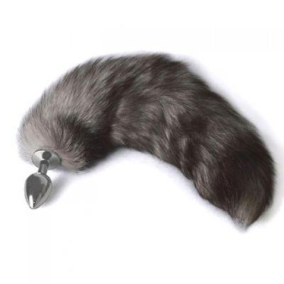Анальная втулка Sitabella с темно-серым хвостом 6.5 см
