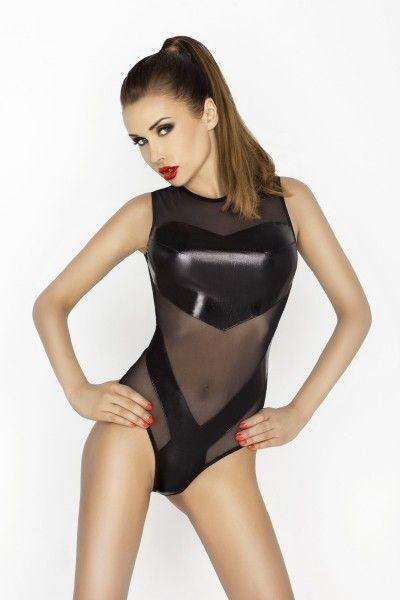 Боди Passion Erotic Line Clover, черное, L/XL