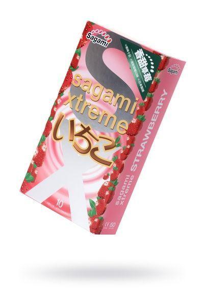 Презервативы латексные Sagami Xtreme Strawberry №10