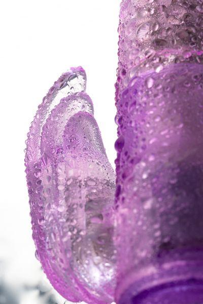 Вибратор с клиторальным стимулятором TOYFA A-Toys  High-Tech fantasy , TPE, Фиолетовый, 22 см