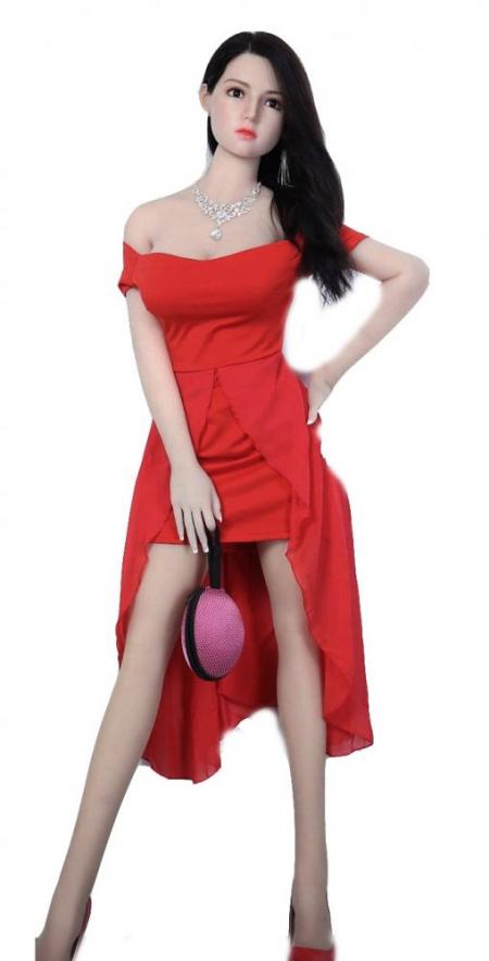 Реалистичная кукла с подвижным каркасом Шарлотта 158 см